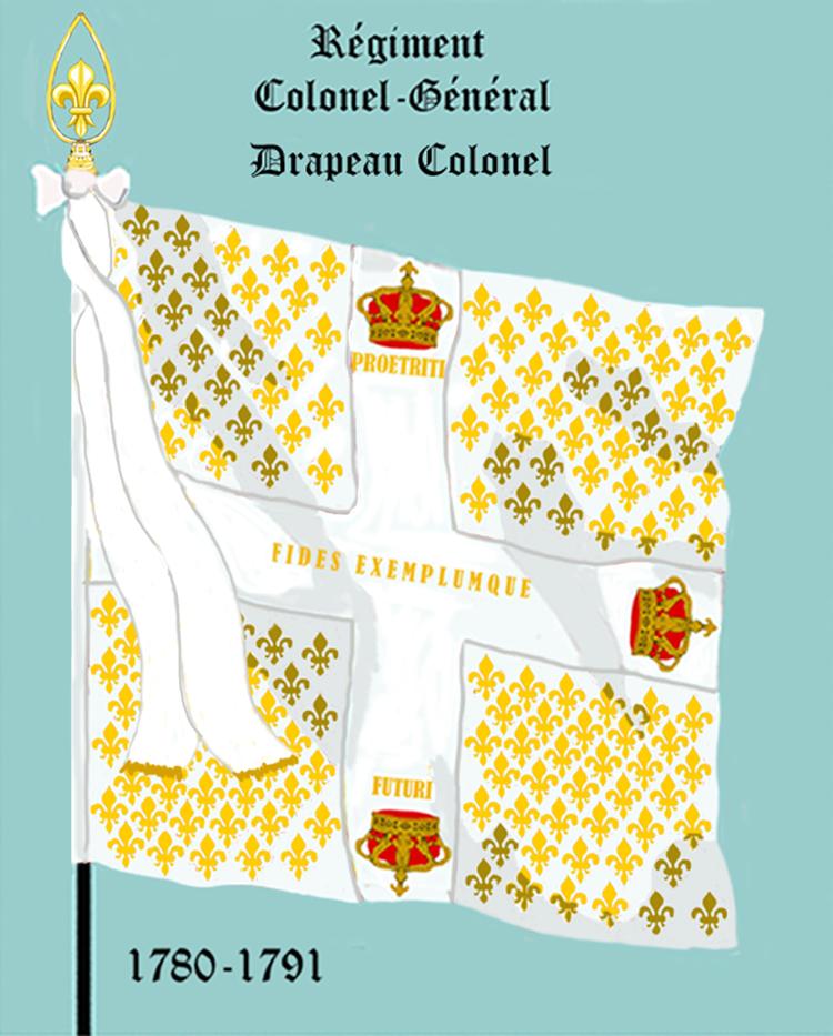 Régiment Colonel-Général, Drapeau colonel