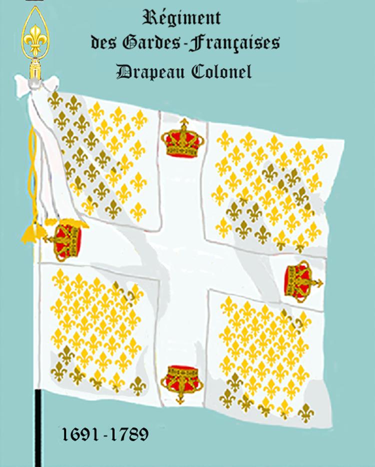 Régiment des Gardes françaises, Drapeau colonel