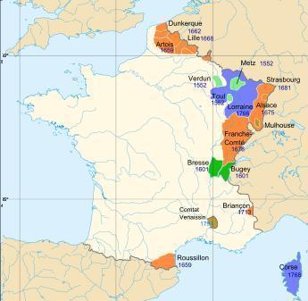 Agrandissements de Henri II à Louis XV...