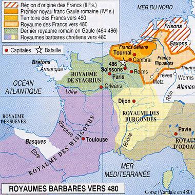 La fin de la Gaule romaine (I) : les barbares...