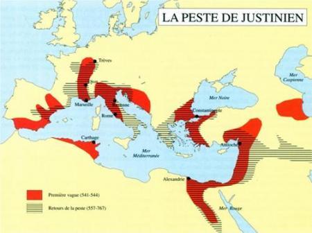 """Entre 541 et 767, la """"Peste de Justinien""""..."""