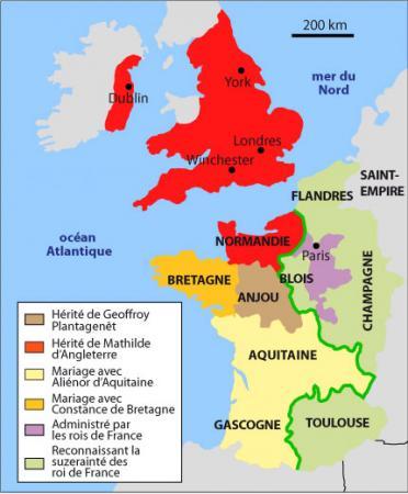 La puissance des Plantagenêts...