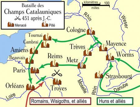 La fin de la Gaule romaine (II) : Attila...
