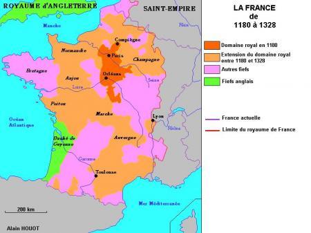 La France de 1180 à 1328...