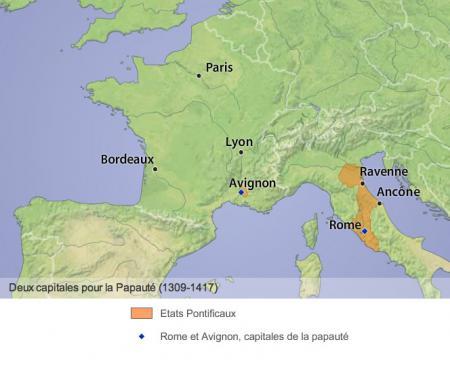De 1309 à 1376 : la Papauté en Avignon...