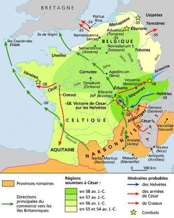 I : La Gaule et la conquête de César...