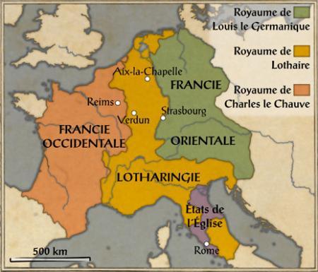 Le Traité de Verdun et la Lotharingie...
