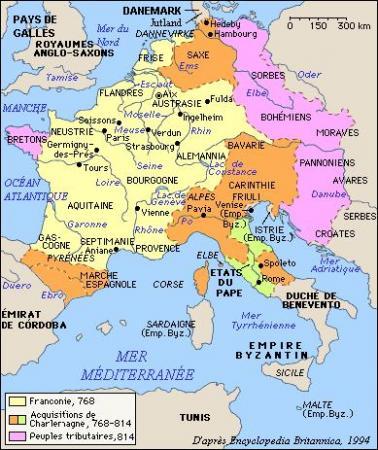 L'empire de Charlemagne...