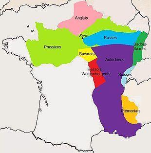 La France occupée en 1815