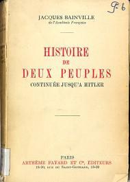 """1915 : parution de """"Histoire de deux peuples"""""""