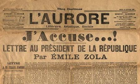 "...devenue ""l""affaire Dreyfus"" à cause de Zola"