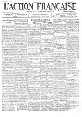 Samedi 21 mars 1908 : premier numéro du journal