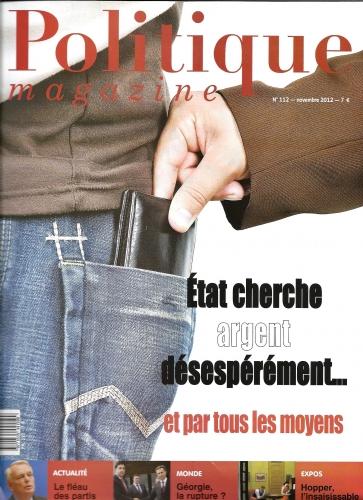 POLITIQUE MAGAZINE NOV 2012.JPG