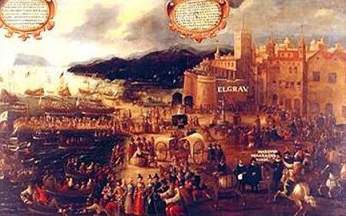 Pere Oromig, Embarquement des Morisques au Grao de Valence.jpg