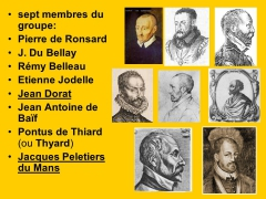 10 septembre,ronsard,michelin,micheline,clement marot,pleiade,martinique,du bellay,salon,l'emperi
