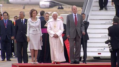 benoit xvi,jules ferry,pape,roi d'espagne,juan carlos,jmj,madrid